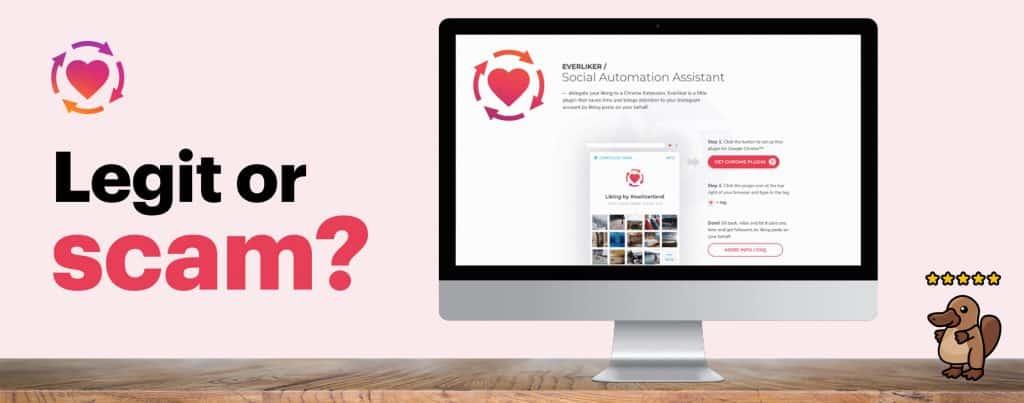 Image showing a mockup of Everliker's website