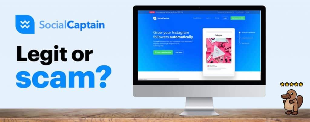 Image featuring Social Captain's website