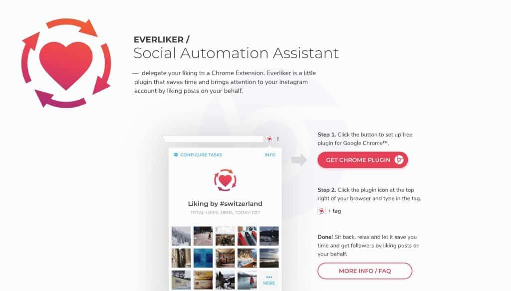 Image of Everliker's website