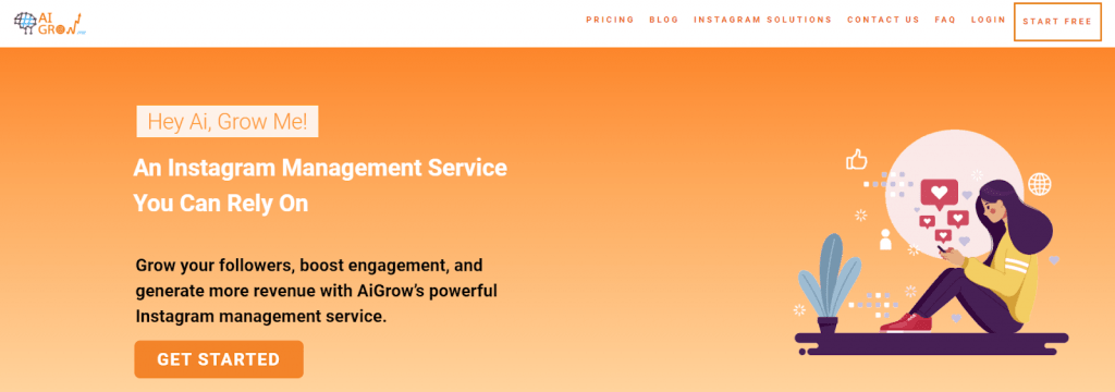 AiGrow.me instagram growth service