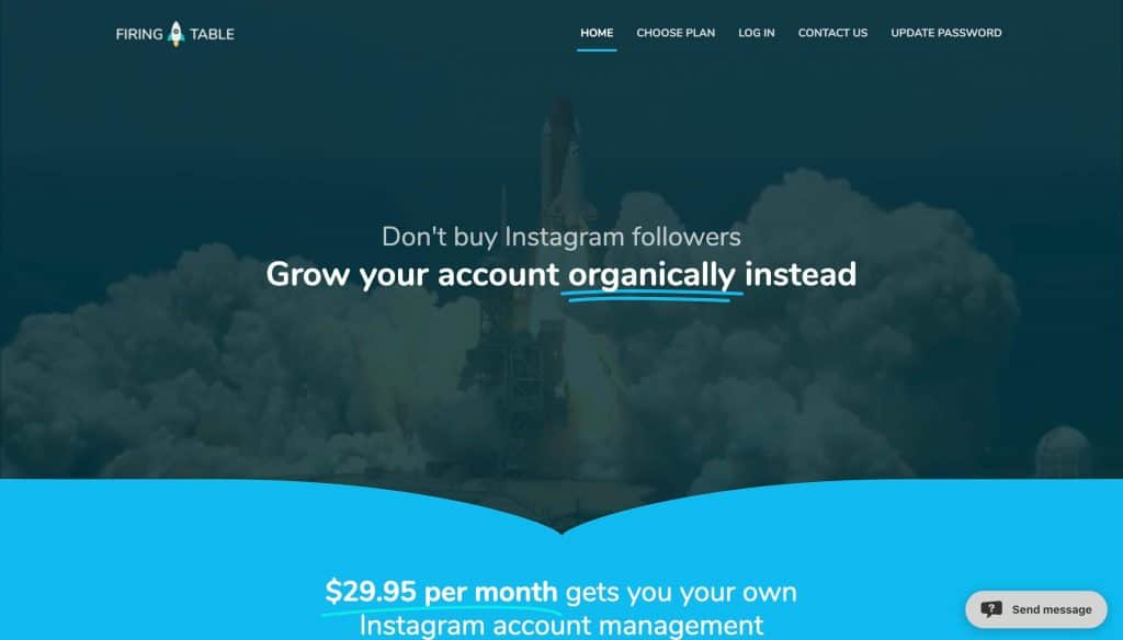 instagram growth services - firing table