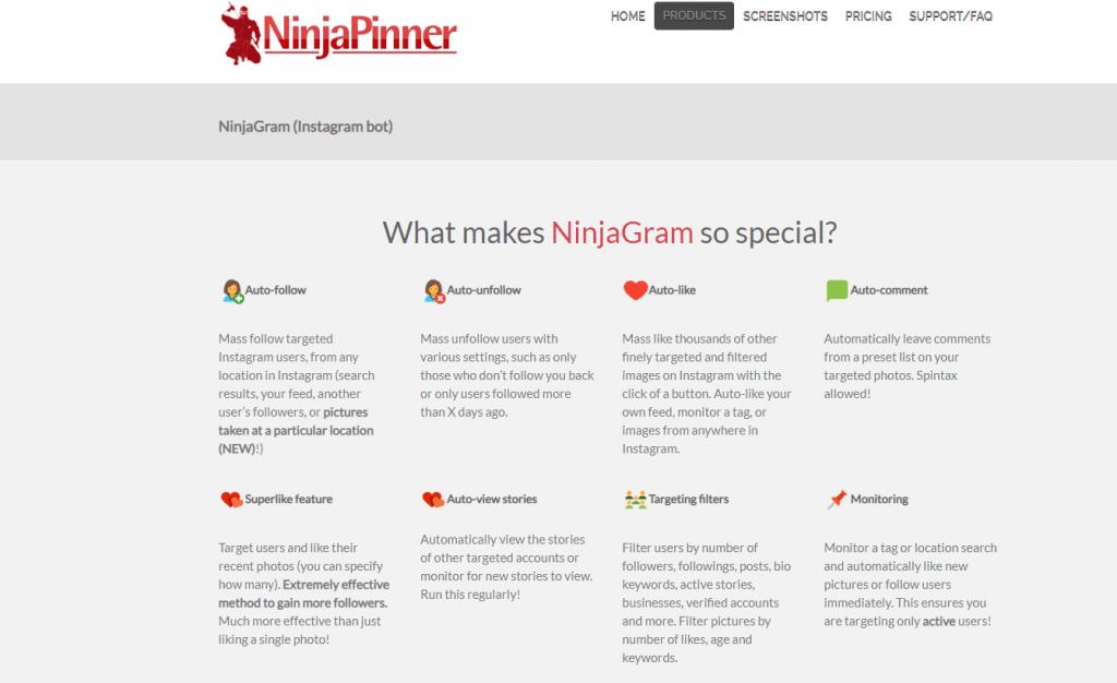 instagram bots - ninjagram