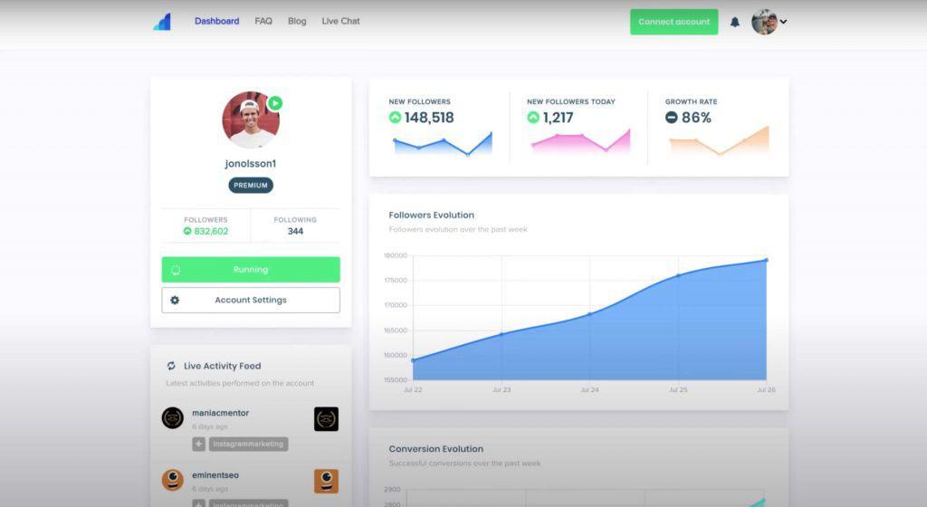 A screenshot of Social Drift's website