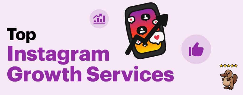 a poster depicting Instagram growth services