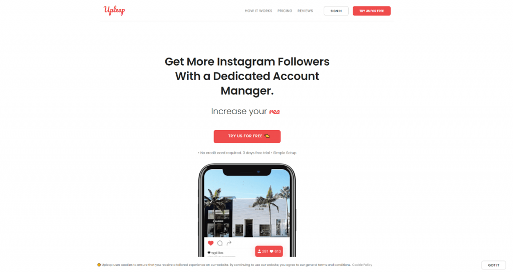 instagram growth services - upleap