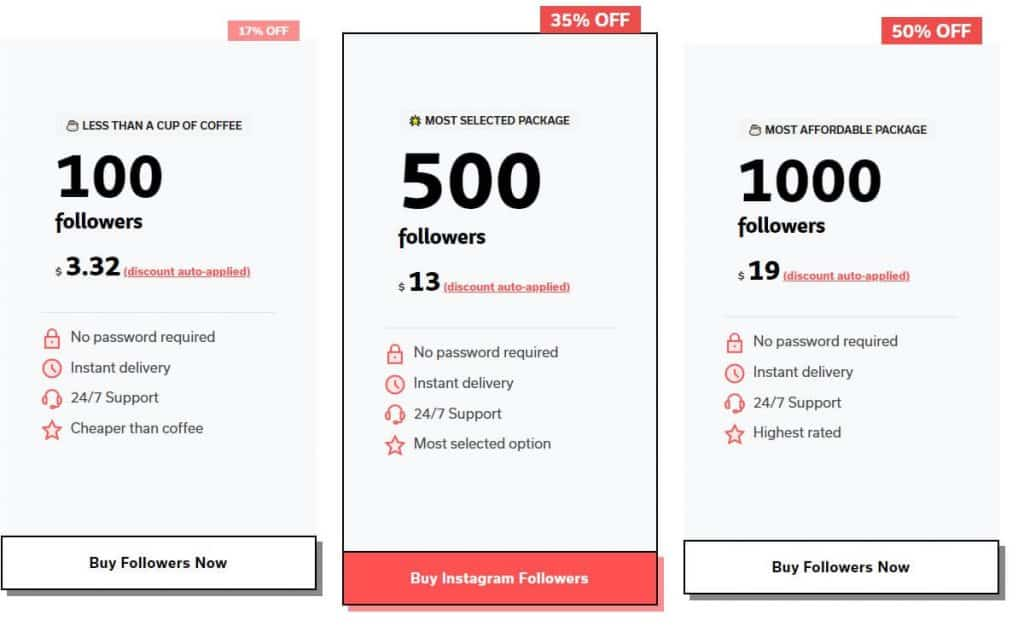 A screenshot of Upleap's pricing.